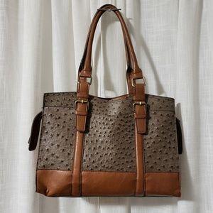 Handbags - Faux Ostrich Leather Purse